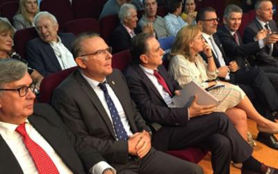 O Presidente Ramón Martínez Gómez e os asociados de Cecap Lugo